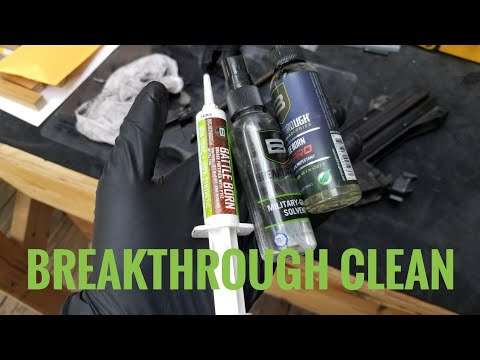 Breakthrough Clean Products on a MP5 with 2k through it