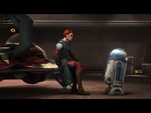 Как R2-D2 отреагировал, когда Энакин перешел на темную сторону и напал на Падме? (Ле