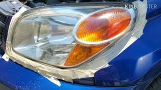Headlight Restoration using Mother's Mag & Aluminum Polish. On a 2005 Toyota Rav4.