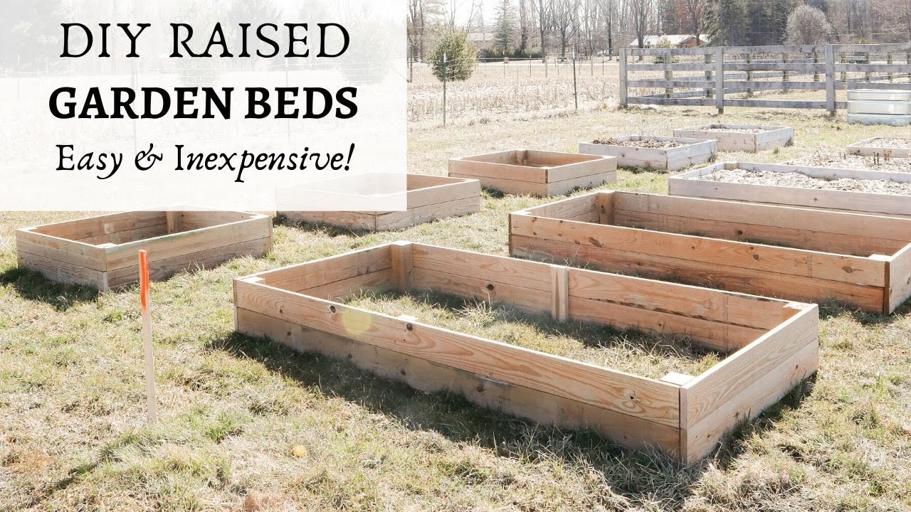 Inexpensive Diy Raised Garden Beds, How To Make An Inexpensive Raised Garden Bed