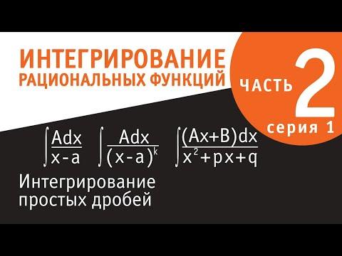 Интегрирование рациональных функций - вторая серия - Интегрирование простых дробей