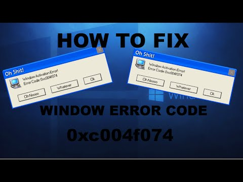 How To Fix Window 10,8 Activation Error Code: 0xc004f074