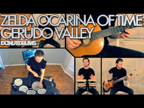 Zelda Ocarina Of Time | Gerudo Valley [Drum/Guitar/Bass/Keyboard Cover] DonutDrums