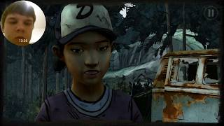 The Walking Dead   Episode 2   Прохождение от Антона 3Лагерь в лесу пёс зомби 18