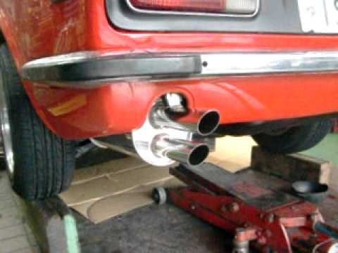 DATSUN 240Z twice pipes exhaust with stock header & engine ...