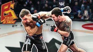 Как борцу научиться бить, какие удары эффективнее для борцов. Боец лиги ACB Эдуард Вартанян.
