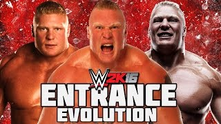 WWE 2K16 - Brock Lesnar  Entrance Evolution! ( WWE Shut your mouth to WWE 2K16 )