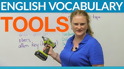 Vocabulary - Tools & hardware: screw, hammer, wrench, level...