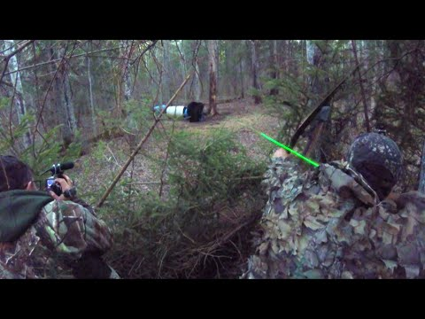 Bear hunting from the ground, 2 Bears Down with LongBow!