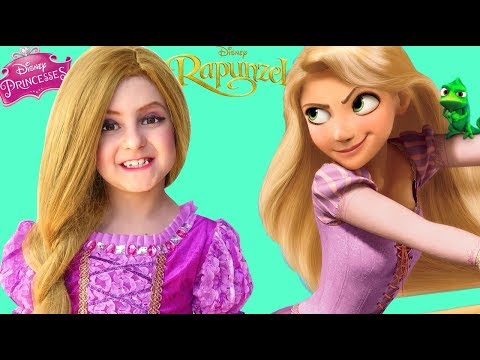 Kids Makeup Rapunzel Hair & Costumes Disney Princess DOLL Cosplay with Colours Paints