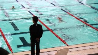 小四學校游泳比賽-蛙式100米