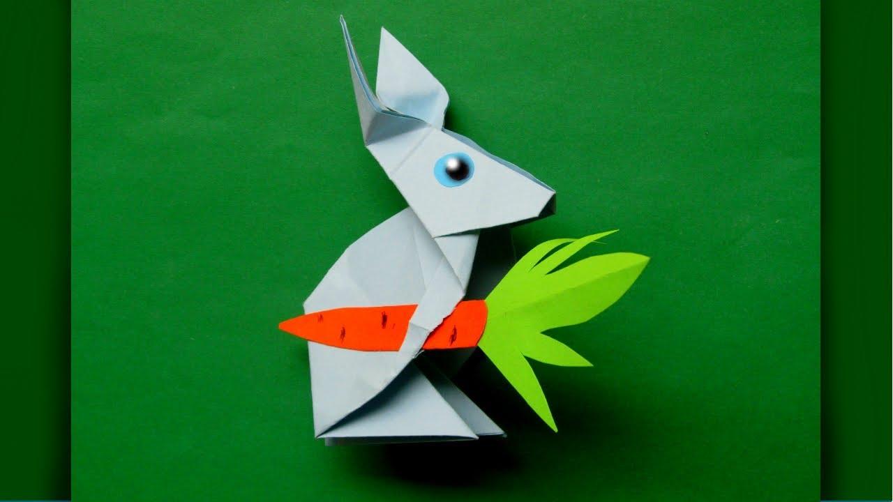 Как сделать зайца из бумаги своими руками фото 738