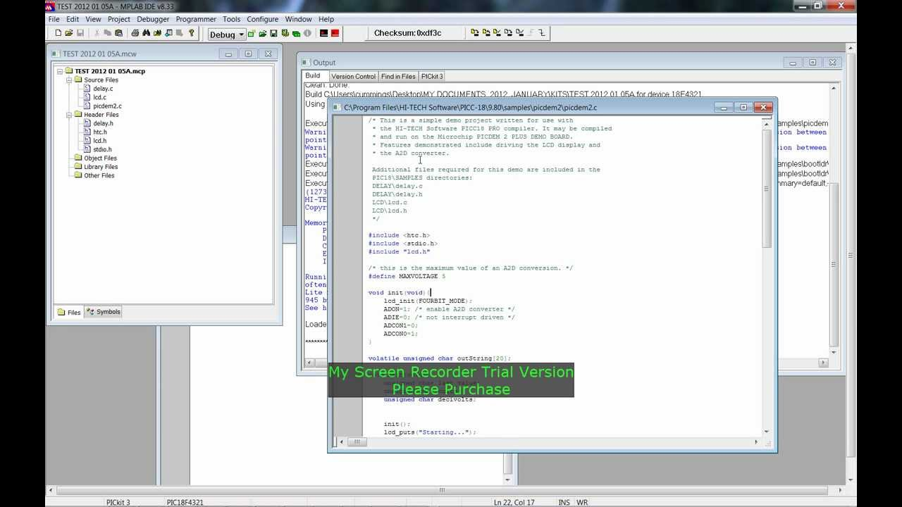 Mplab ide v8. 92 free download.