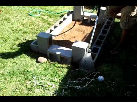 DIY Backyard Bbq Brick Pit. Stage 1   YouTube