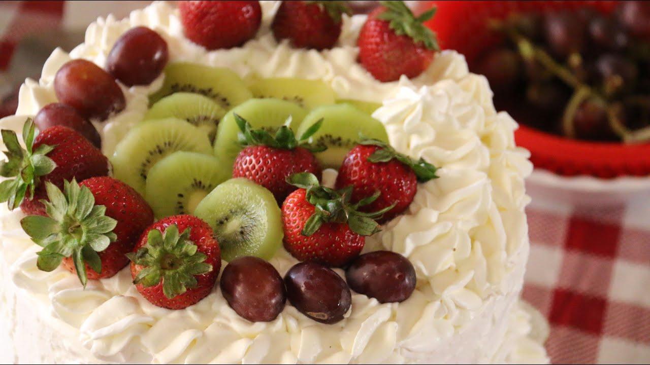Fruit Birthday Cake Banh Sinh Nhat Trai Cay Recipe Youtube