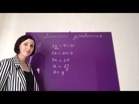 Математика. Решение уравнений. Линейные уравнения (5, 6, 7 класс, ОГЭ и ЕГЭ)