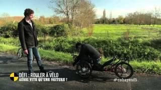 Défi : rouler à vélo aussi vite qu'une voiture ! - On n'est pas que des cobayes #cobayesF5