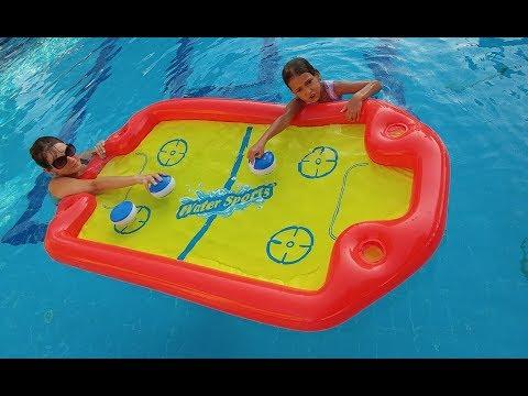 Elife yeni şişme oyuncak Havuzda SU HOKEYİ, water play, eğlenceli çocuk videosu