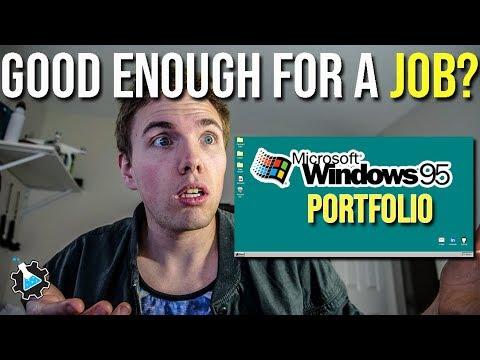 Can you get a job with These REAL Portfolios? (Windows 95 Portfolio)