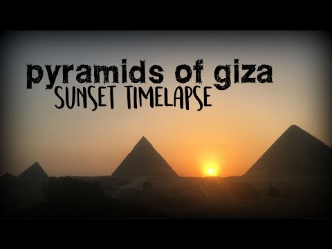 Pyramids of Giza Sunset Timelapse