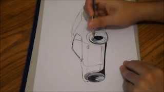 Drawing Datsun 240Z
