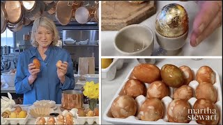 Martha Stewart Makes Naturally Dyed Easter Eggs | Homeschool With Martha | #StayHome #WithMe