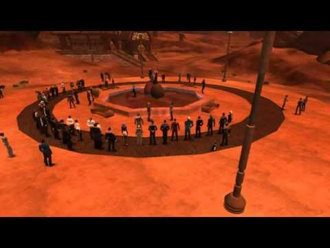 Star Trek Online - Players paying their respects to Leonard Nimoy on Vulcan