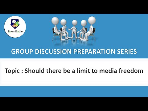 🆕Group Discussion on Should there be limit on Media freedom👉Talent Battle GD Series