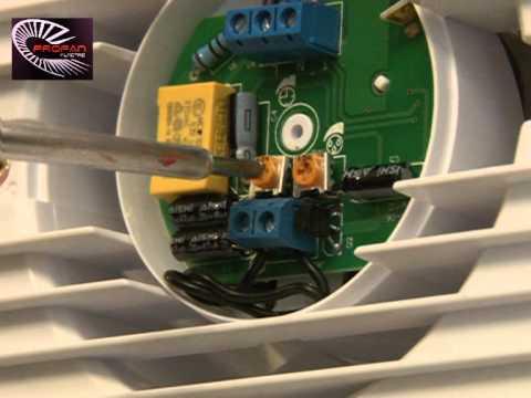 Planet Energy PE 100HS Páraérzékelős háztartási ventilátor beszerelése