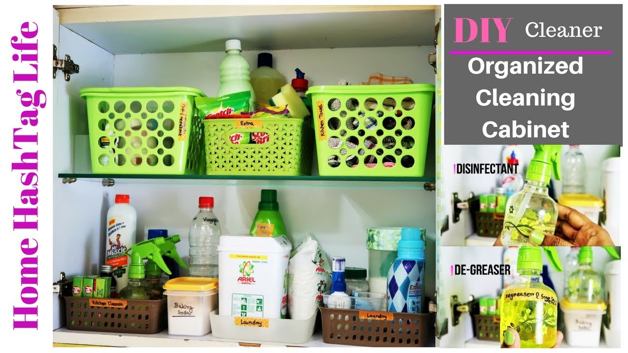 Diy Cleaners Kitchen Cleaning Cabinet Organisation Home Hashtag Life