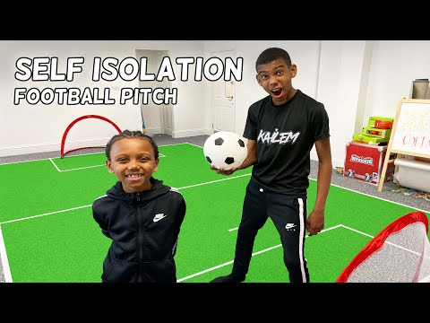 BUILDING A FOOTBALL PITCH IN MY HOUSE | ISOLATION