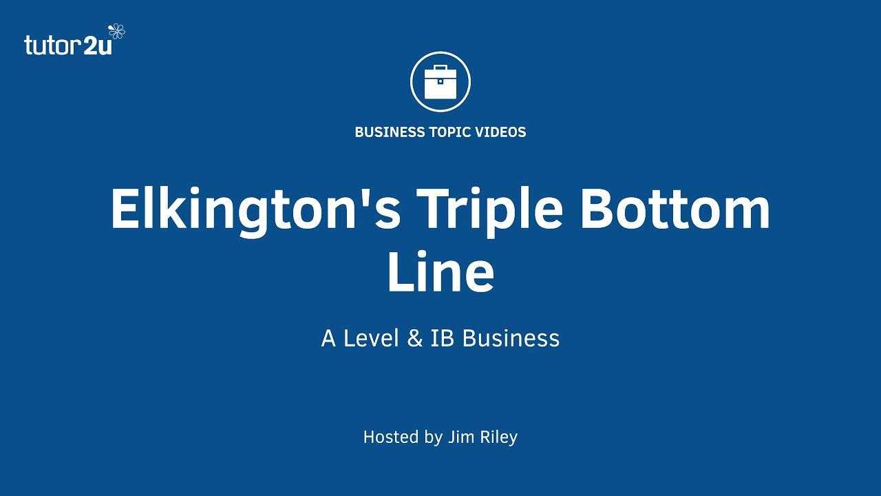 triple bottom line elkington pdf