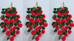DIY Bunga Gantung Hiasan Dinding dari Plastik Kresek   Flower Wall Hanging from Plastic Bag