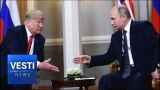 Putin, Trump Begin Summit with a Big Hug and Firm Handshake
