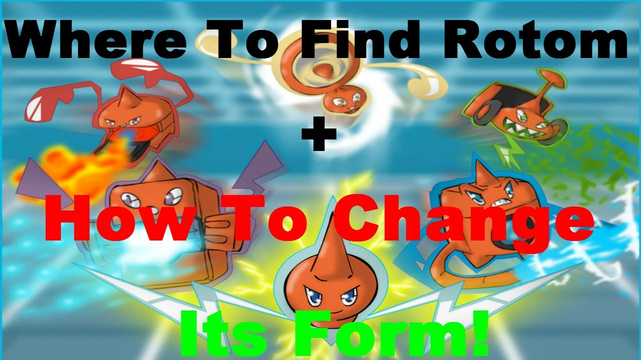 Pokemon X And Y-Where To Find Rotom+How To Change Its Forms! - YouTube