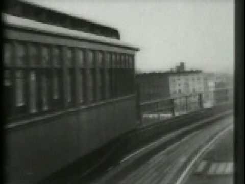 104th Street Curve, New York, Elevated ('El') Railway 1899