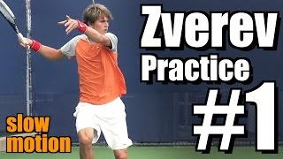 Alexander Zverev in Super Slow Motion | Forehand and Backhand #1 | Western & Southern Open 2014
