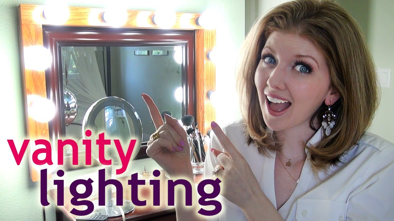 my vanity lighting how to apply makeup at night youtube. Black Bedroom Furniture Sets. Home Design Ideas