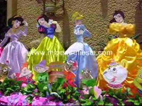 Decoraci n tem tica de princesas youtube for Decoracion de princesas