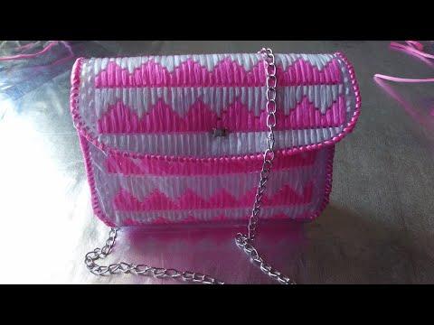 Bolso Con Rafia y Malla Plástica/La Luna Del Crochet