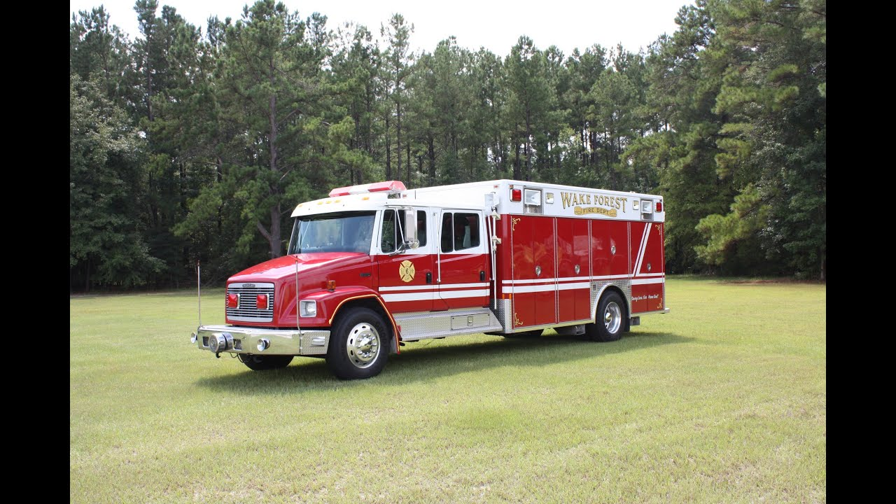 Used Fire Trucks For Sale - 1993 Freightliner Rescue Truck - YouTube
