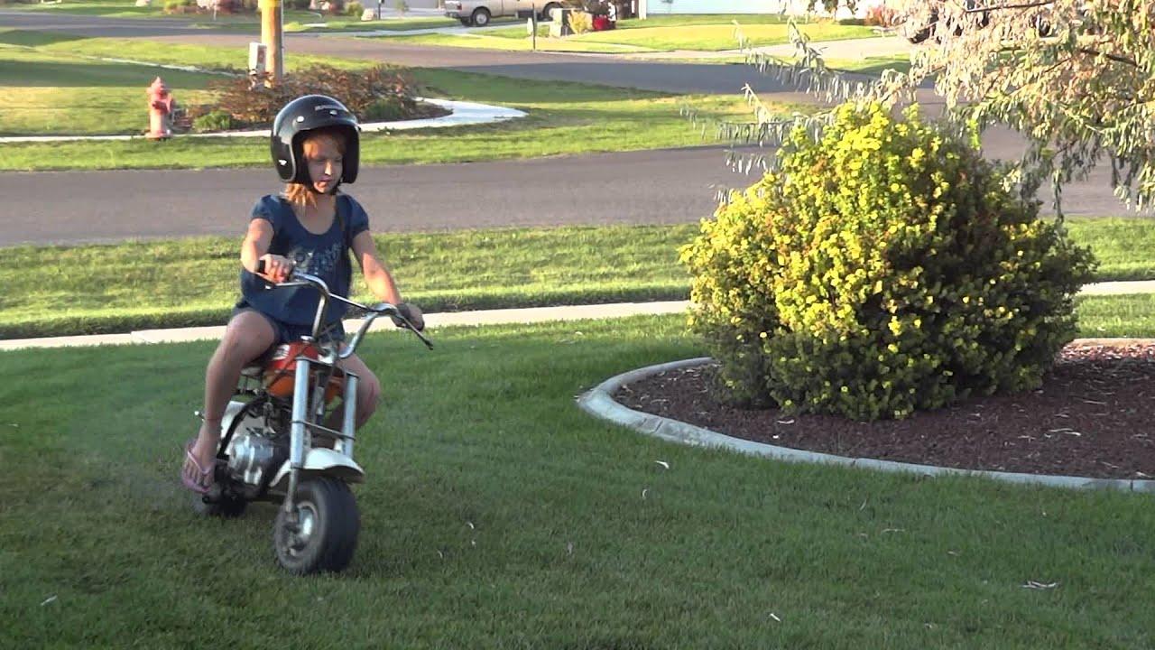 konner  emma riding   honda qa mini motorcycle youtube