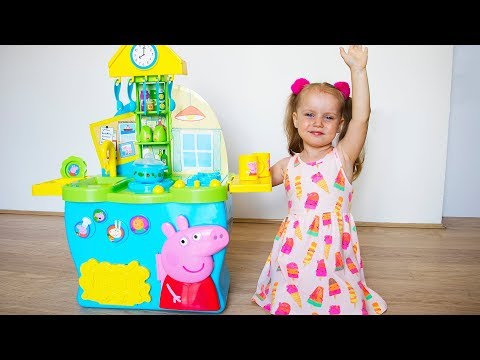 Gaby in Fun Pretend Play Story with Kitchen Toys Set