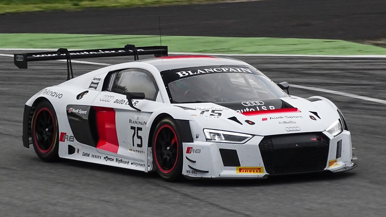 Audi R8 Lms Gt3 2016 Testing On Track Youtube