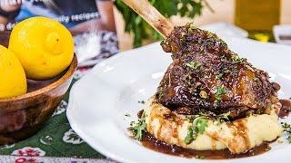 Home & Family - Braised Lamb Shanks With Red Wine Sauce Recipe