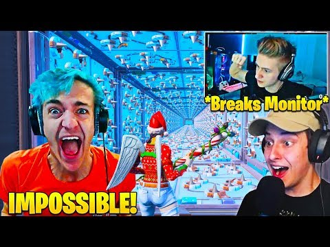 CIZZORZ REACTS TO STREAMERS TRYING HIS *IMPOSSIBLE* OBSTACLE COURSE! - FORTNITE