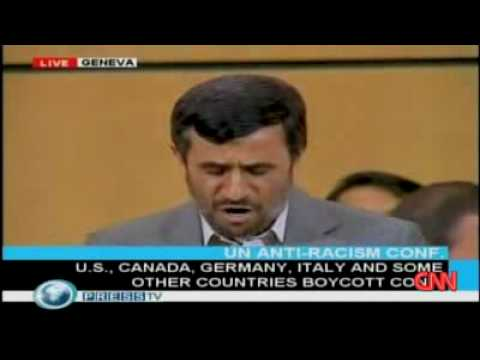Ahmadinejad Blasts Racist Israel, Zionists Racists Walk out of UN racism conference