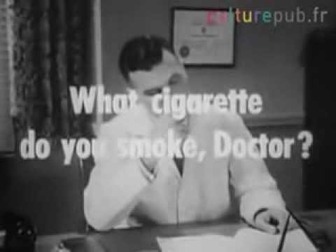 Odd Commercial with Doctor Smoking ! 60 years ago