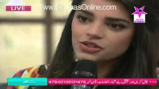 Sanam Saeed singing in a morning show