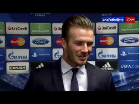 PSG vs Barça 2-2 David Beckham UEFA Champions League 02-04-2013